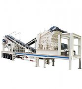 Mobile gypsum impact crushing plant